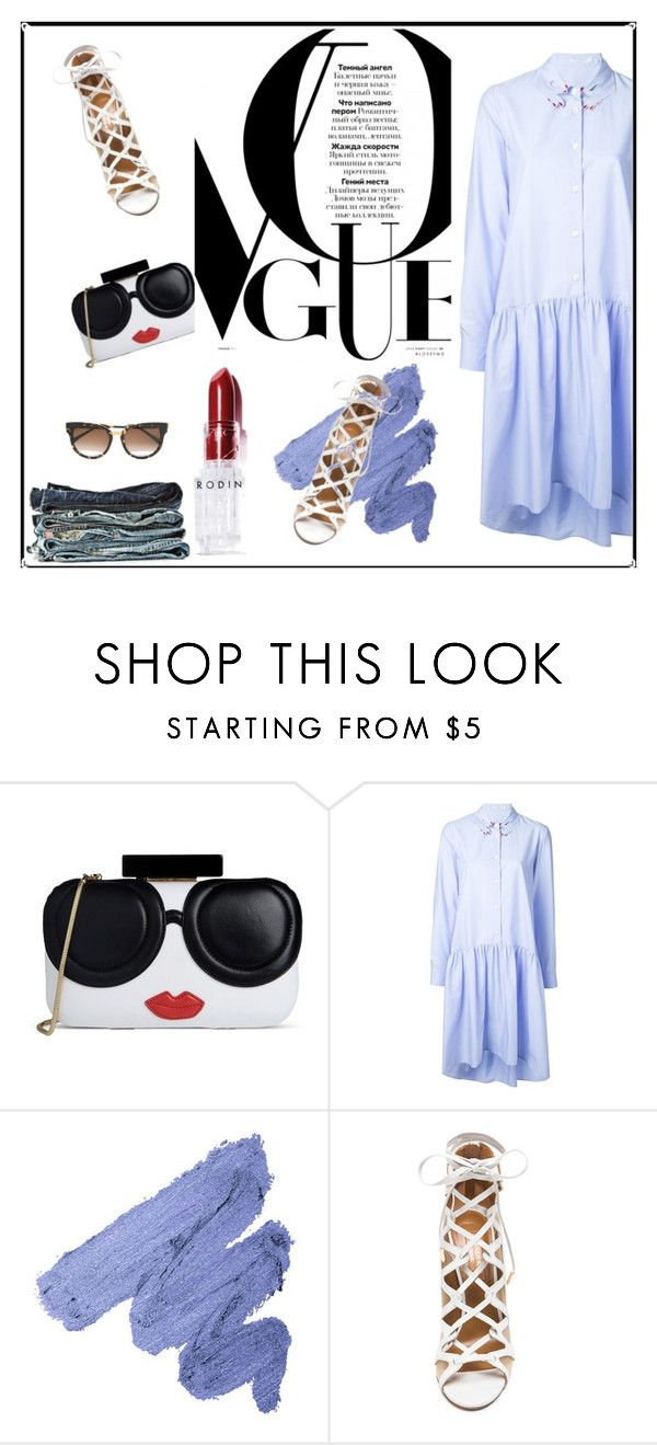 """Untitled #212"" by dragansabina on Polyvore featuring Alice + Olivia, VIVETTA, Aquazzura, Rodin and Thierry Lasry"