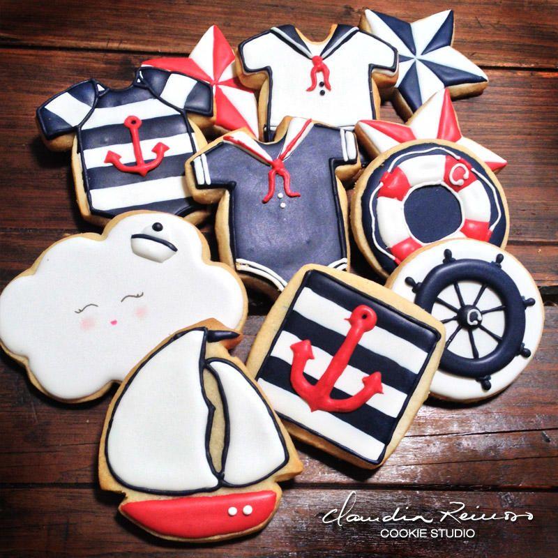 Carlitos´s Sailor Baby Shower Cookies