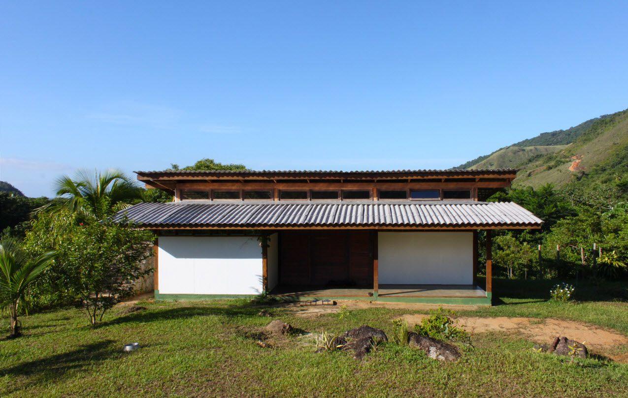 Diseño casa de campo sustentable, estructura de madera y materiales ...