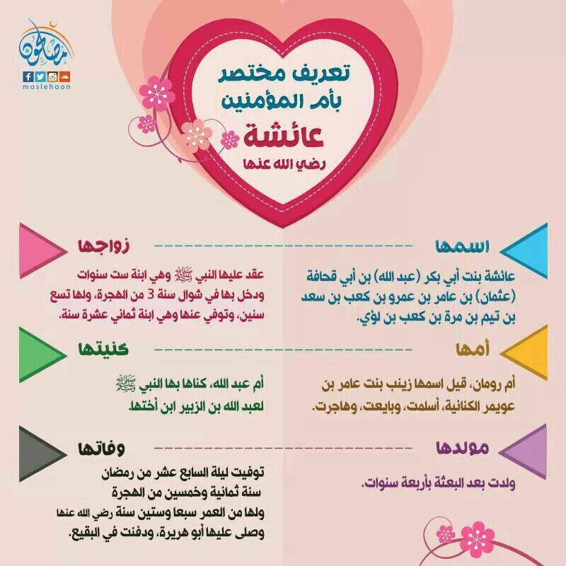 تعريف مختصر بأم المؤمنين عائشة رضي الله عنها Arabic Quotes Words Quotes