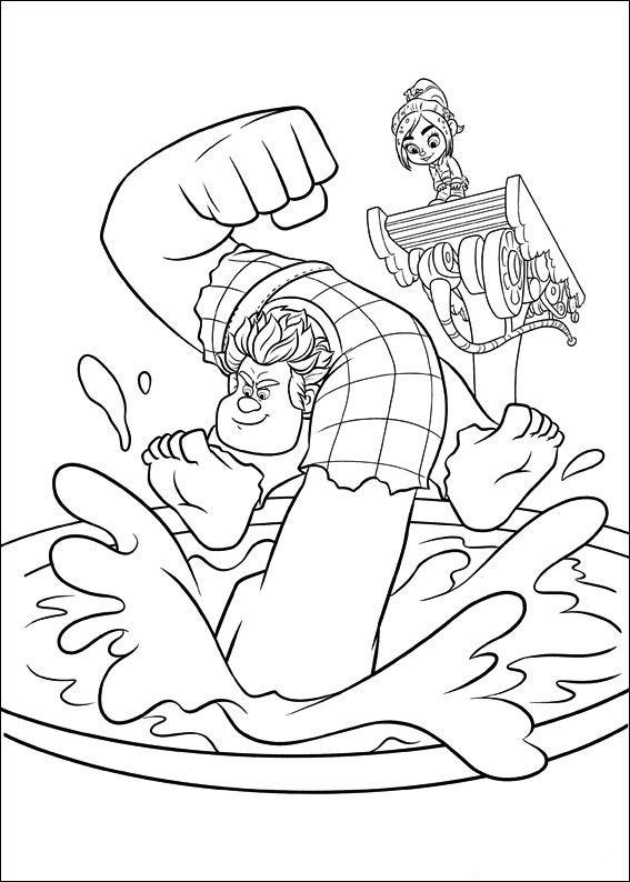 Dibujos para Colorear Rompe Ralph 25