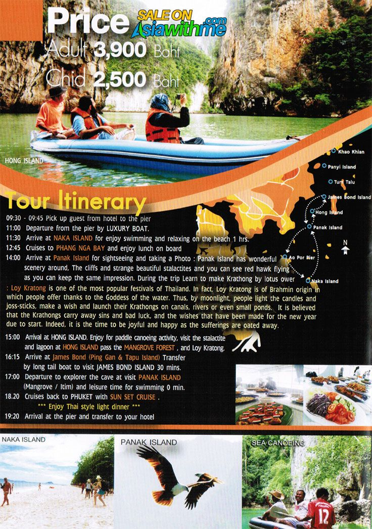 Phuket Day Tour Package James Bond Vip Trip 8 Points