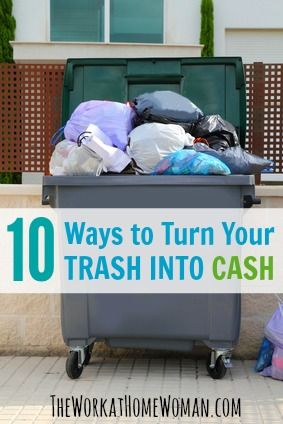 Wait ... don't throw that away! Your trash could be worth cash. Read on to find out the crazy things you can exchange for money! via The Work at Home Woman