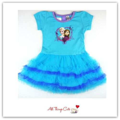 REDUCED Frozen Anna Elsa Sky Blue Layered Dress | Disney Frozen ...