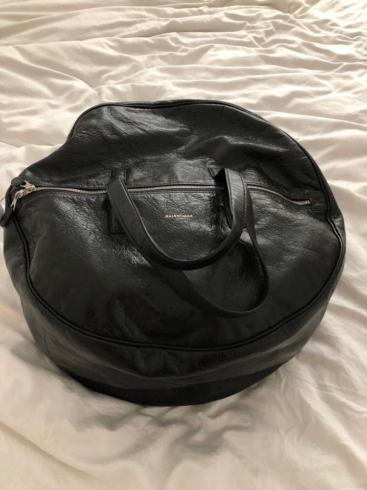 3539e742b789 BALENCIAGA Air Hobo Large Leather Tote Bag - Black - NEW WITH TAGS ...
