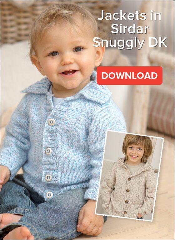 Free Pattern: Children\'s Jackets in Snuggly DK | knitting | Pinterest