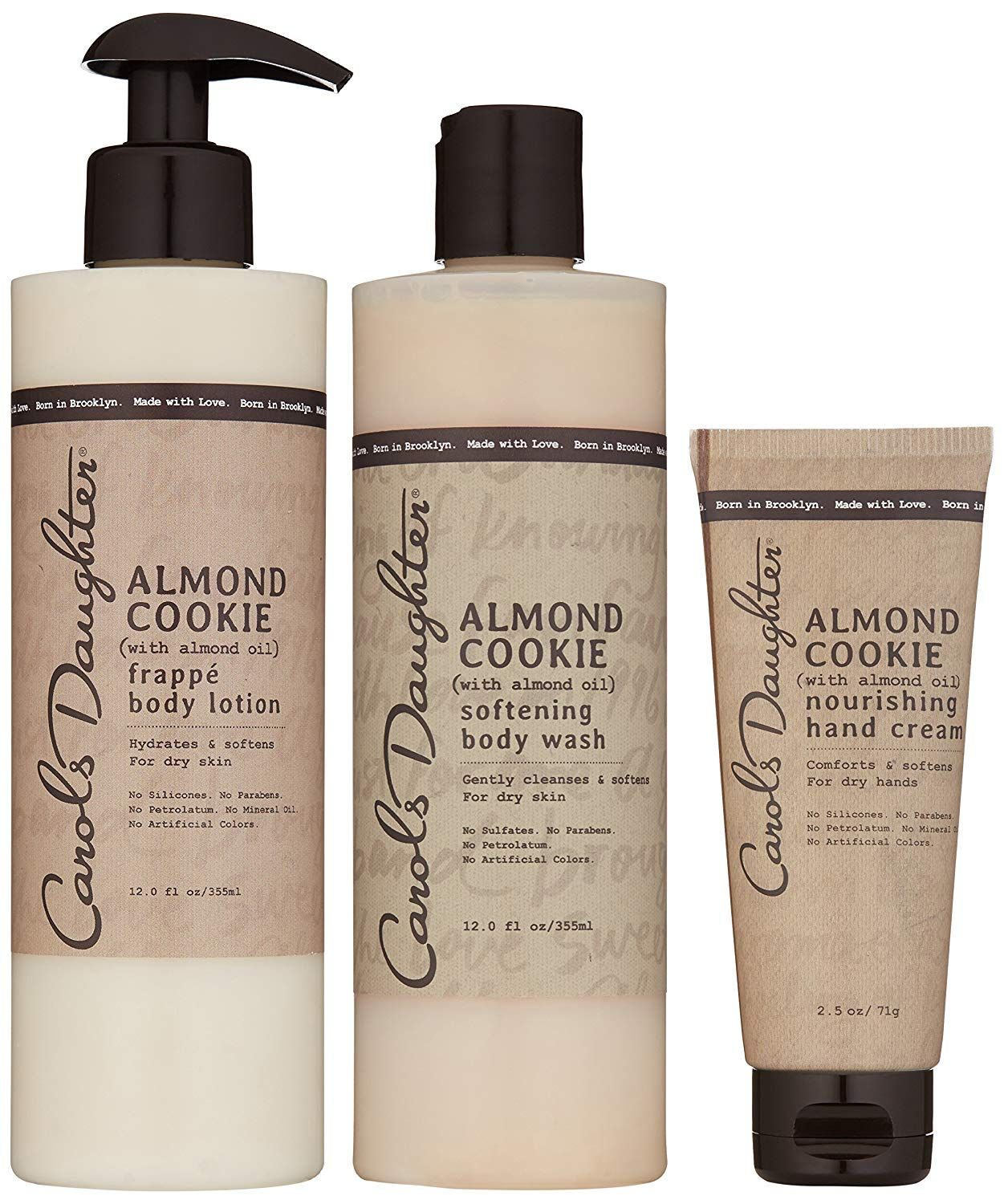 Carols Daughter Almond Cookie Body Gift Set For Dry Skin Carols Daughter Products Sulfate Free Body Wash Cream For Dry Skin