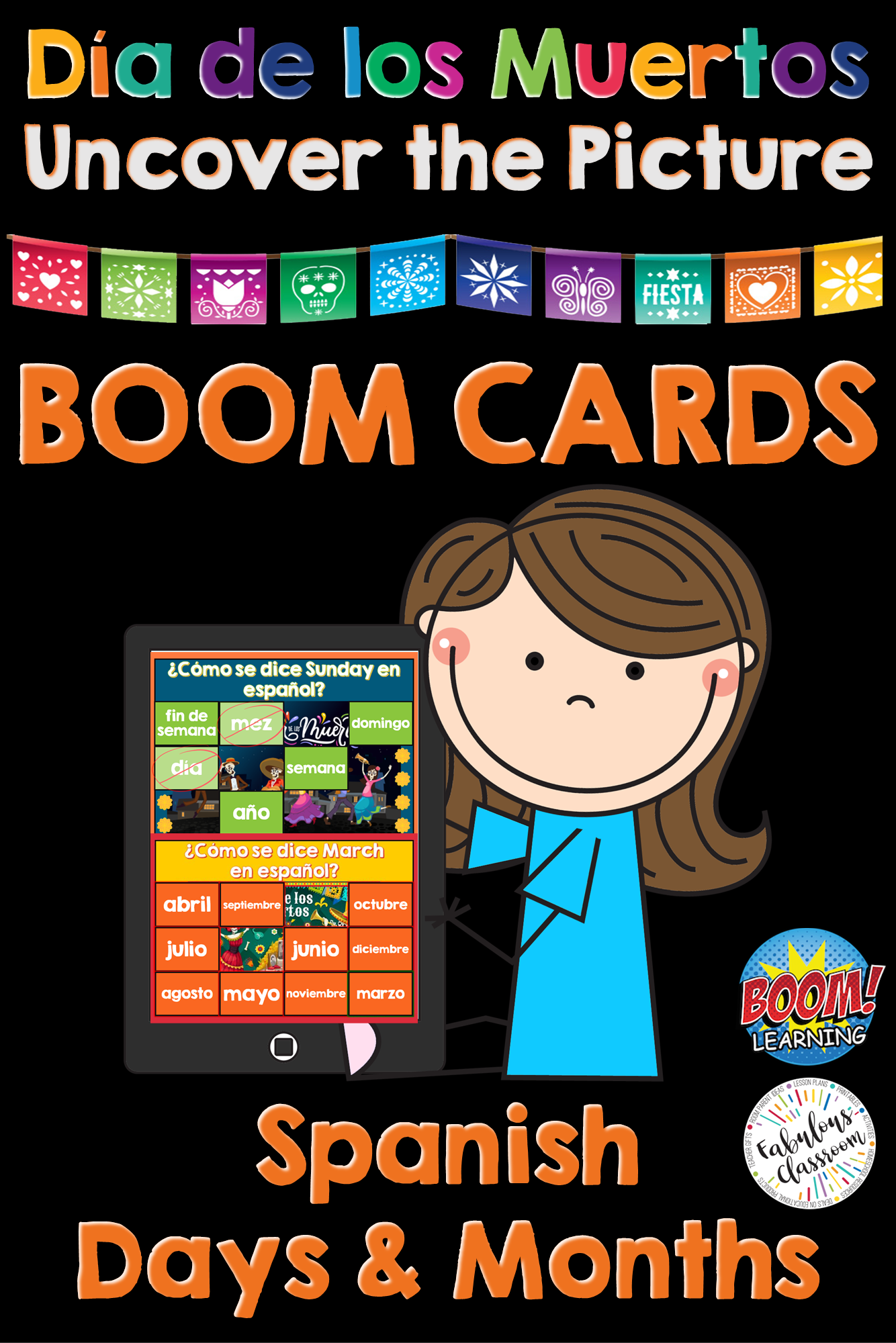 Dia De Los Muertos Activity Spanish Boom Cards