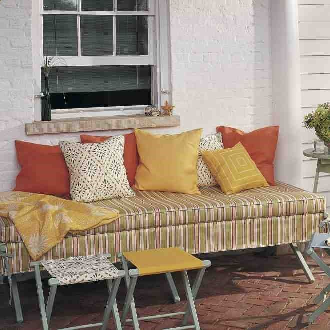 Camping Cot   Turn A Camp Cot Into An Elegant Patio Daybed. Throw Pillows In Part 80