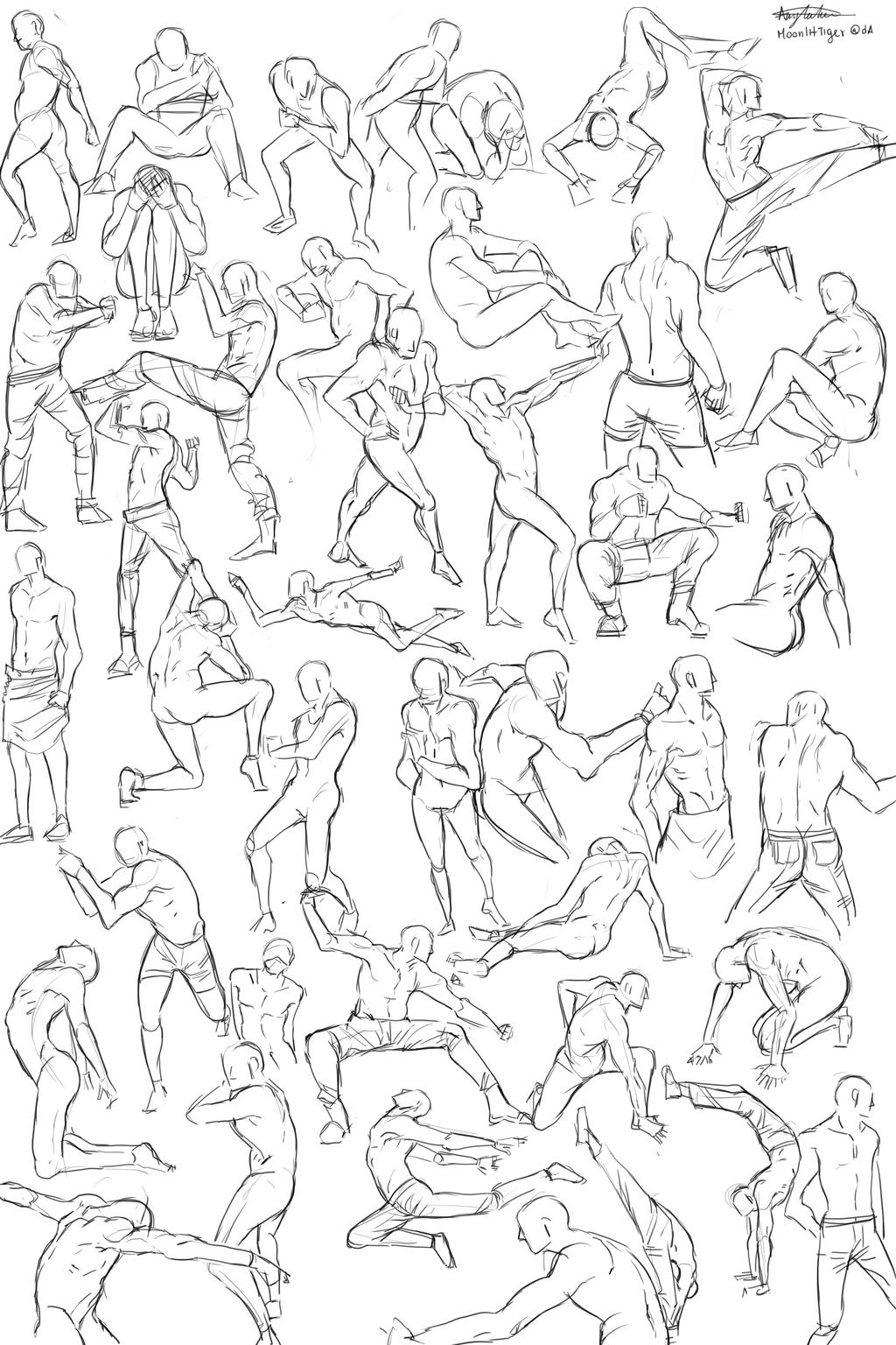 Docenas de poses para tus personajes masculinos!   anatomia ...