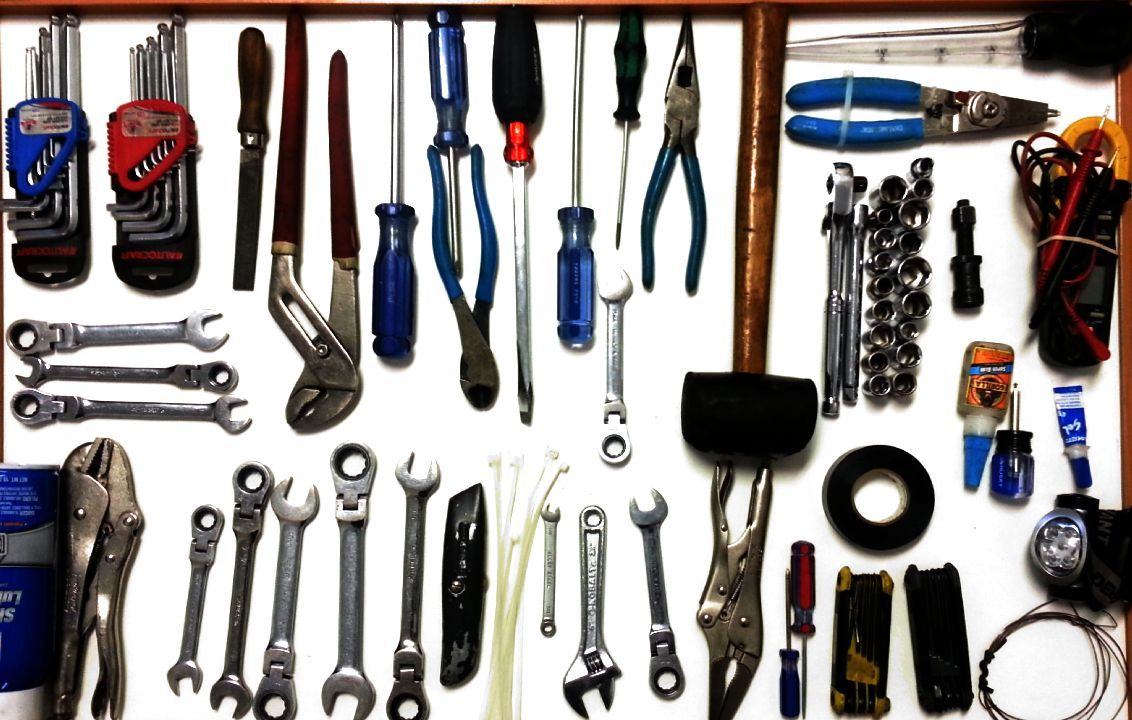 Tools recommended in order to do a professional job of fitness repair