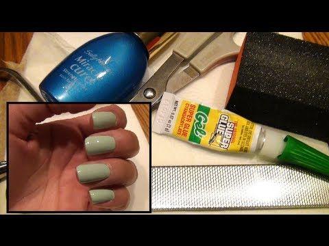 How To Fix A Broken Nail Super Glue And Tea Bag Method