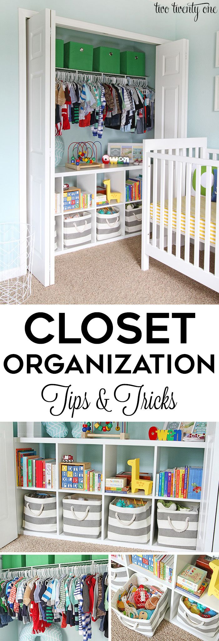 Small Nursery Closet Organization Ideas Part - 30: Closet Organization Tips And Tricks! GREAT Ideas For Home Organization!