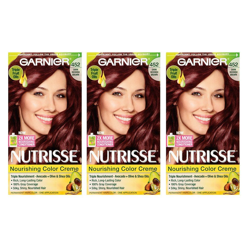 Garnier Nutrisse Nourishing Hair Color Creme 452 Dark Reddish Brown Chocolate Cherry