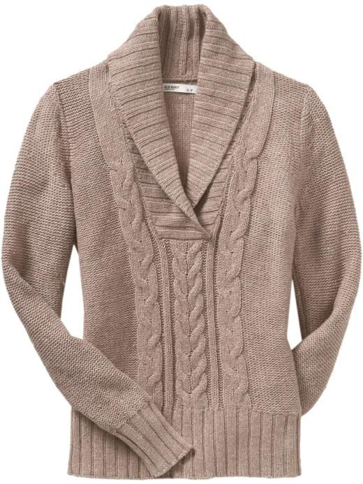 6bd4148e3d42 Women s Cable-Knit Shawl-Collar Sweaters Product Image