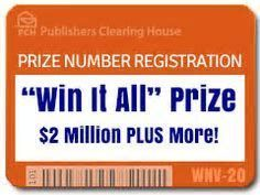 Image result for Publishers Clearing House Sweepstakes Entry I