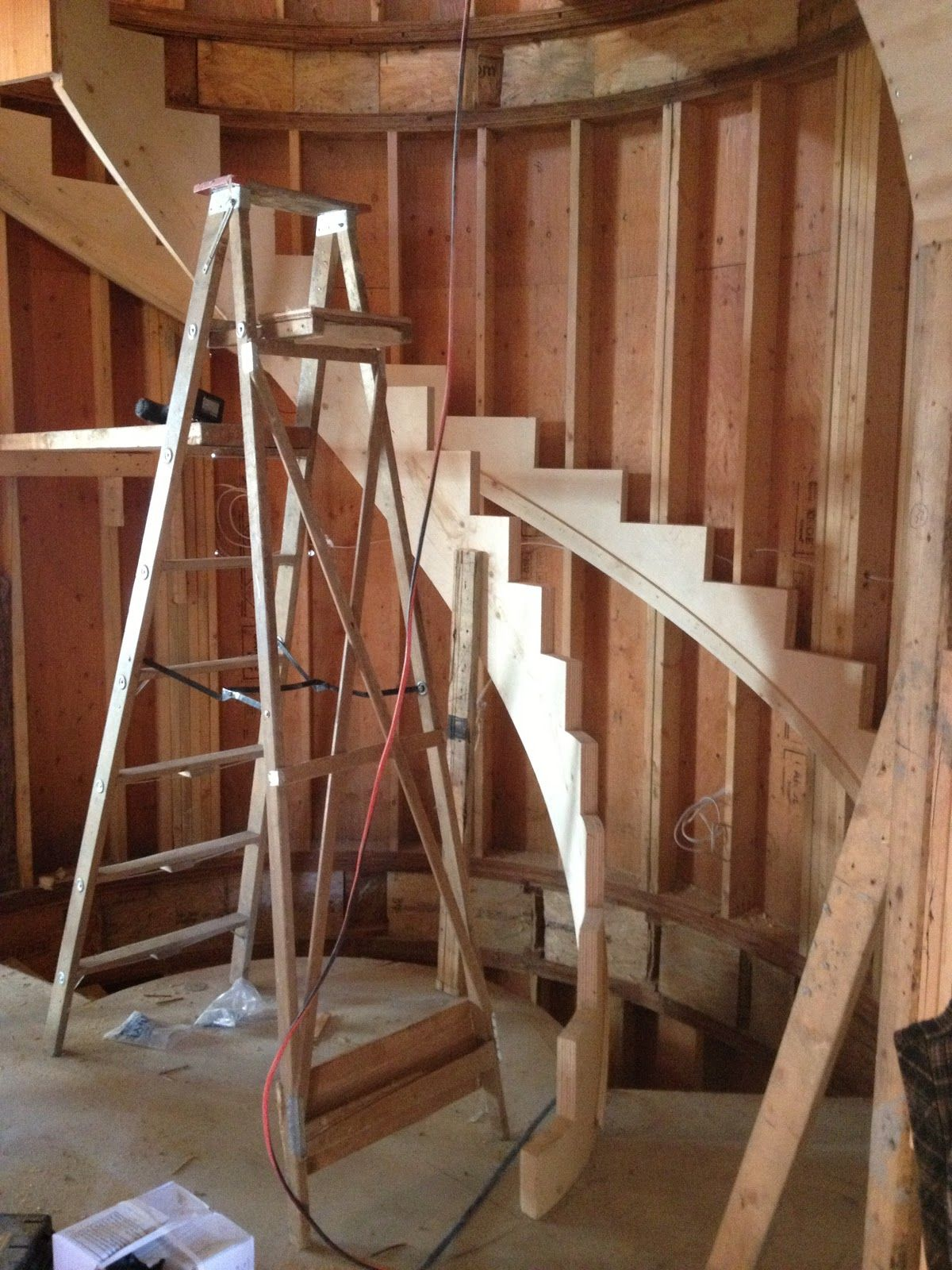 Best Cypress House Spiral Stairs Framing Curved Staircase 400 x 300