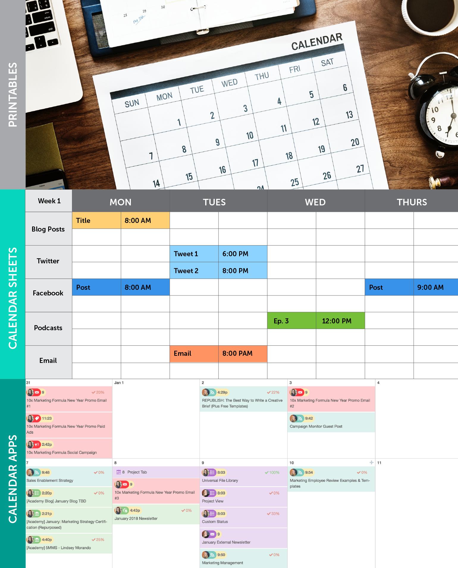 Digital Marketing Editorial Calendar Template for Excel ...