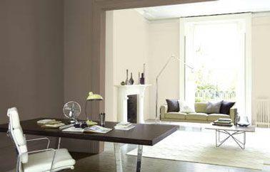 12 d co salon et chambre avec une peinture couleur taupe for Peinture taupe et lin