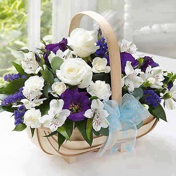 Pretty Flower Basket Carols Country Sunshine Beautiful flowers