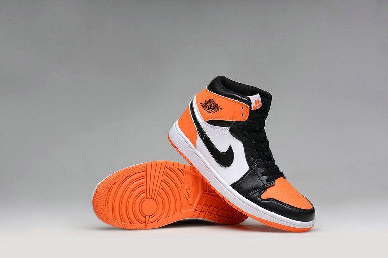 2018 Authentic Air Jordan 1 High Shattered Backboard 555088 005 Black Noir  Team Orange f891e07ce