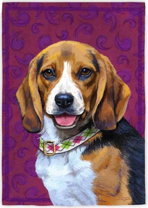 Beagle House Flag Animal Flags, Beagle Garden Flag
