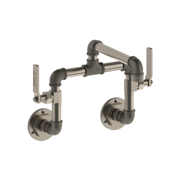 Awesome Elan Vita Bridge Industrial Style Wall Mounted Kitchen Faucet