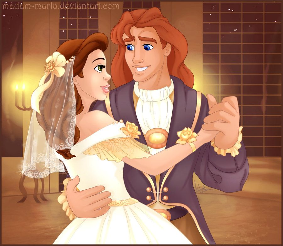 Princess Belle And Prince Adam Beauty And The Beast Gohana: Beauty And The Beast, WEDDING