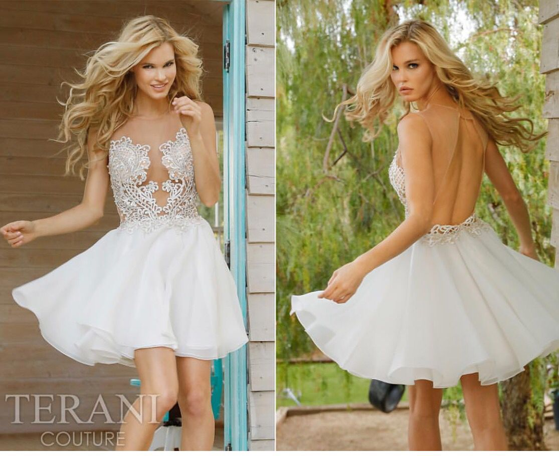 Breathtaking fit and flare homecoming dress by Terani. Style ...