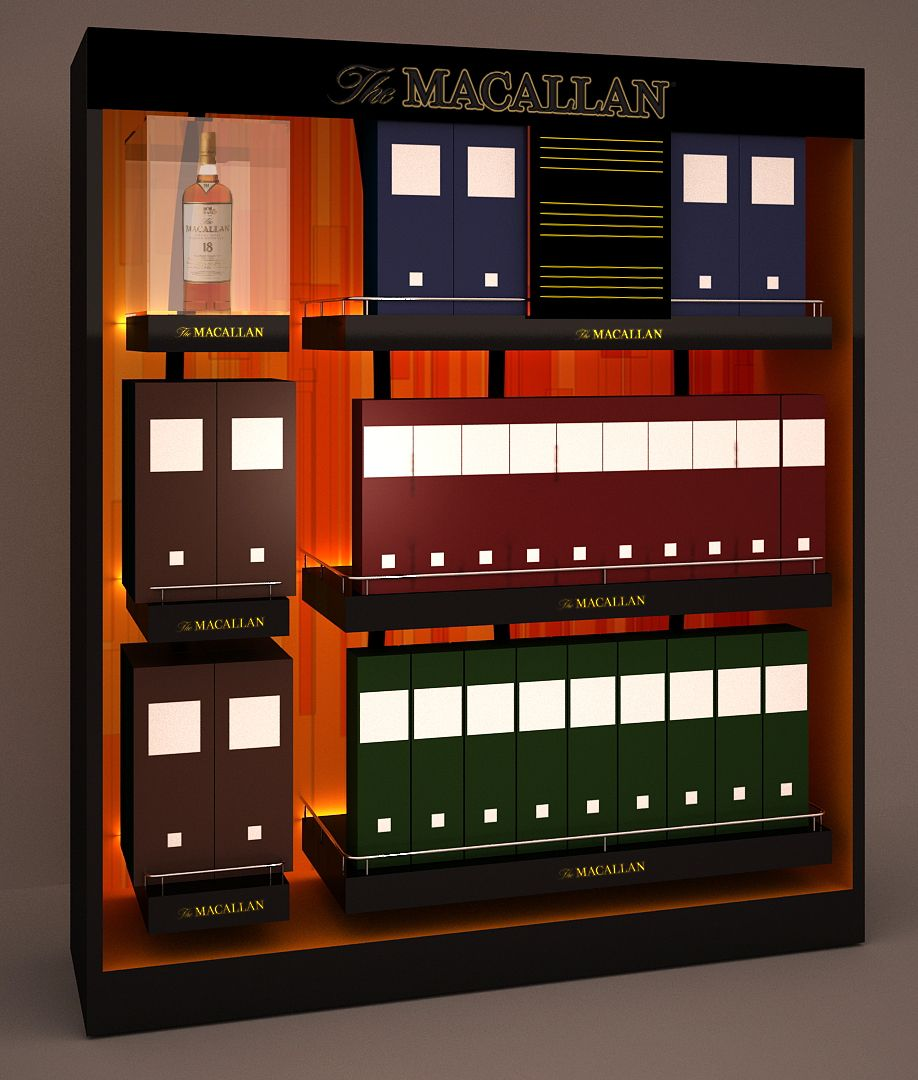 Macallan Shelf Unit 3d Design Pop Design Design Wine Display