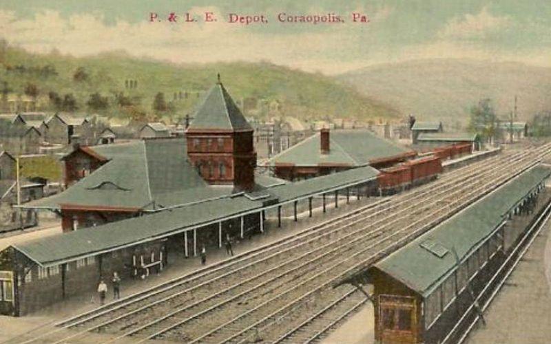 Train pictures, Postcard, Pennsylvania history