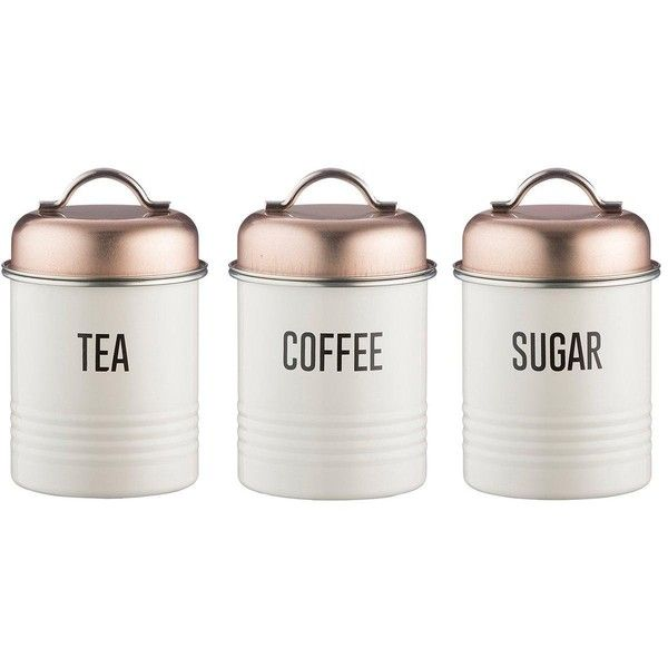 Typhoon Tea Coffee And Sugar Canisters €40 ❤ liked on Polyvore