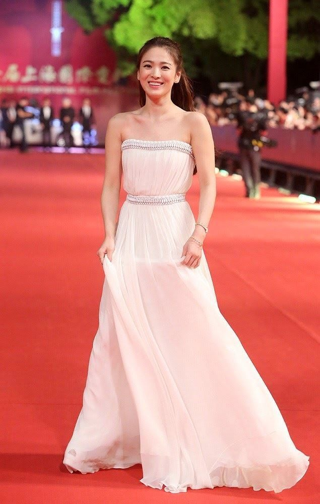 South Korean actress Song Hye Kyo poses on the red carpet