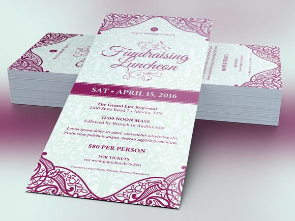 Fundraising Luncheon Flyer Template @creativework247  Luncheon Flyer Template