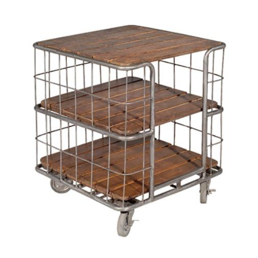 Halo Styles LU930 Springfield Bakers Rack End Table
