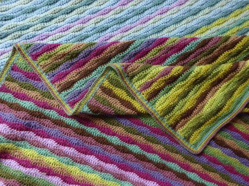 Moorland Blanket Cal Part 7 Blanket Crochet Knitted Blankets
