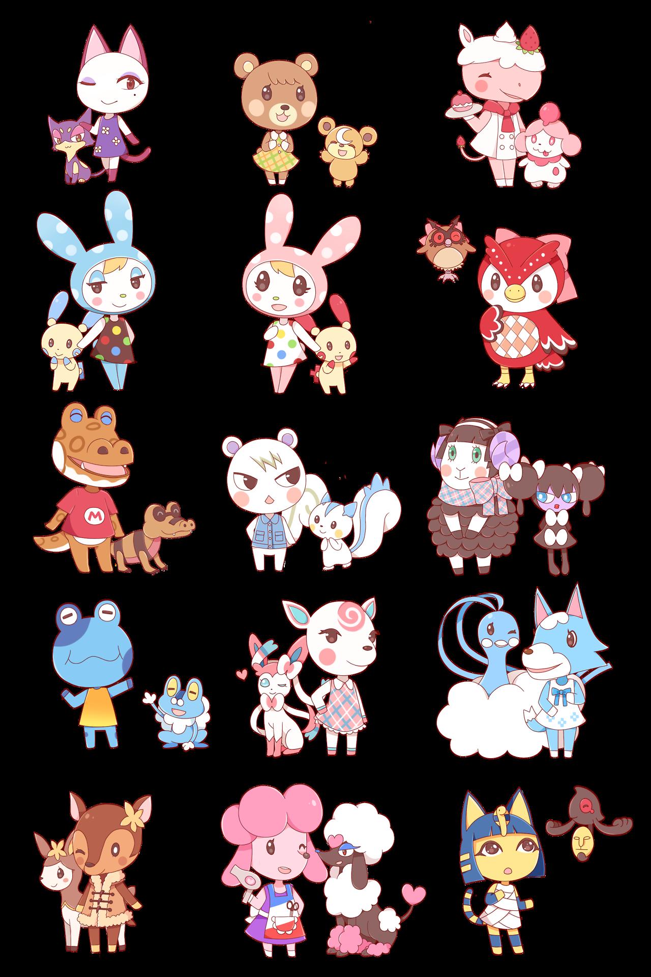 Zumodelimon Crossover Of Animal Crossing And Pokemon Animal