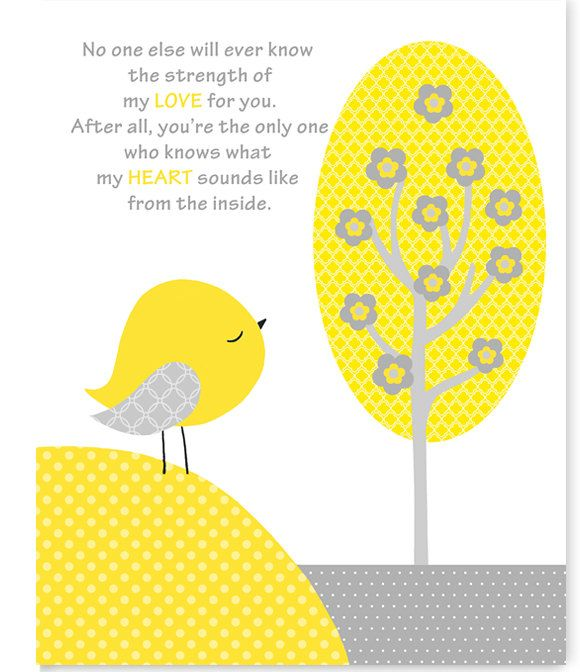 No One Else Will Ever Know, Gender Neutral Nursery Art Print, Yellow ...