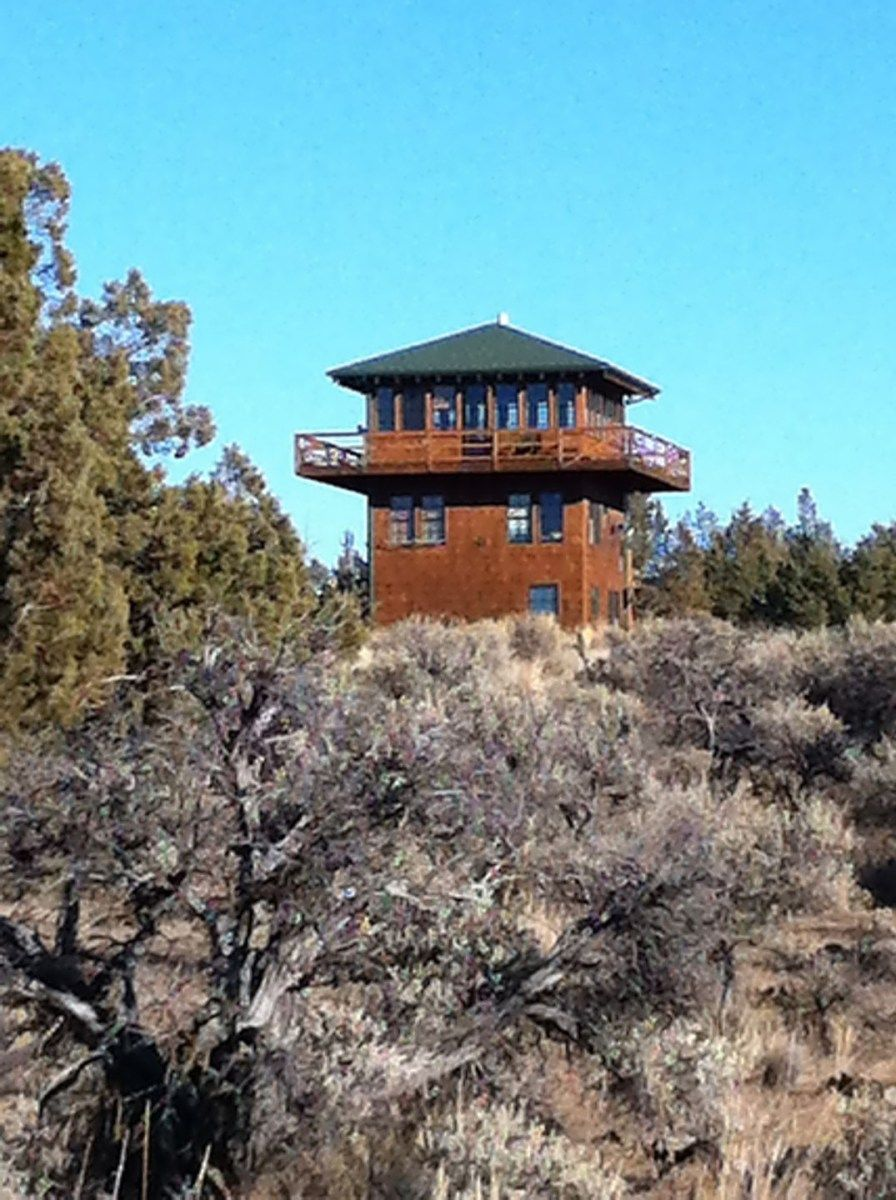 Forest Fire Lookout Tower And