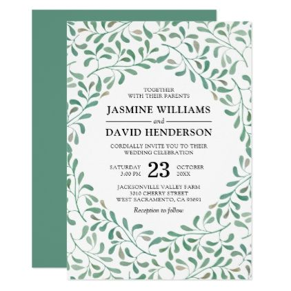 Elegant Eucalyptus Watercolor Wedding Card Wedding card