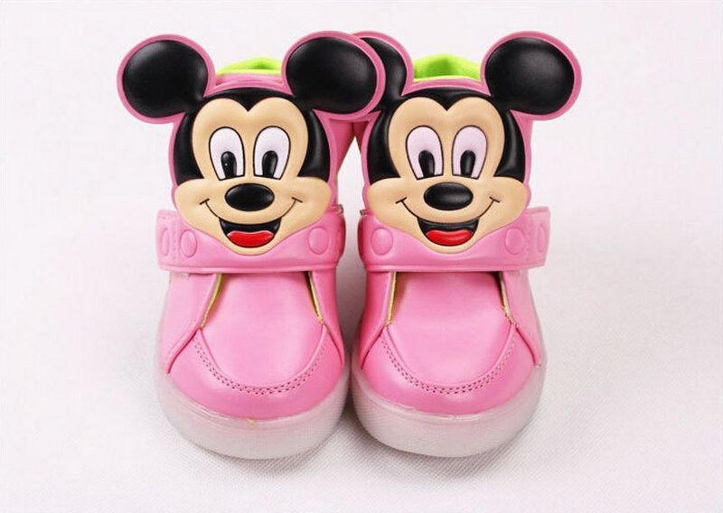 2016 Spring autumn new children's sport shoes boys girls leather PU emitting shoes with LED shiny kids fashion sneakers No.A204