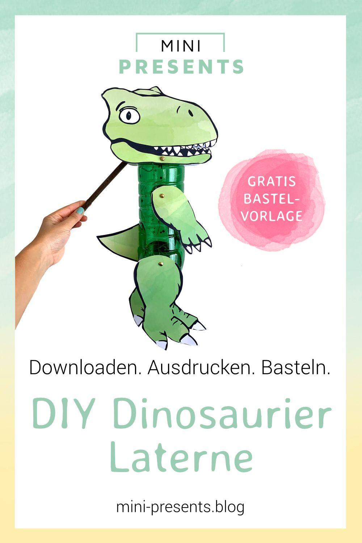 Dinosaurier Laterne mit Kindern basteln