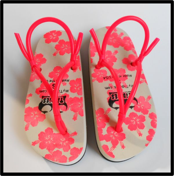 a223261099d Hot Pin Hibiscus Tiddies Sandals