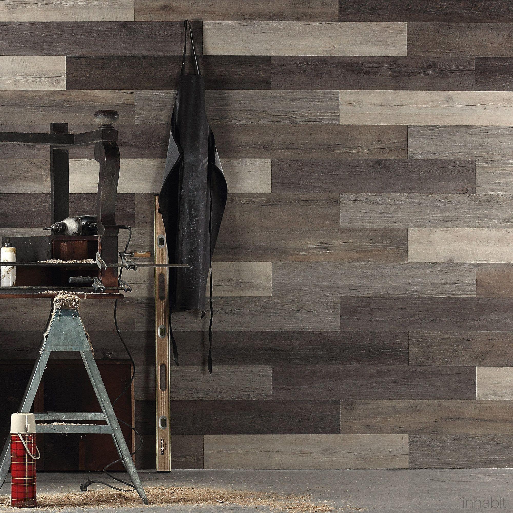 Scrap Wood Look Peel And Stick Wall Planks Wood Paneling