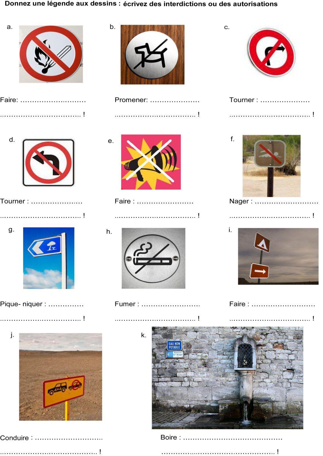 Sign Worksheet