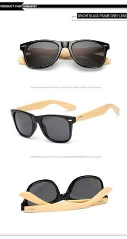 f1324ba9842f Bright Black Gray Bamboo Brand Designer Sunglasses For Sales Online Store  Shop Free Shipping products eyewear style shops websites fashion mens  accessories ...