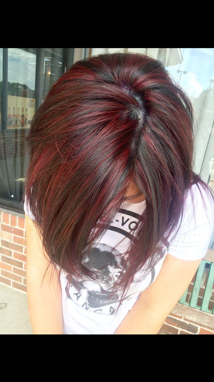 Photo of Fall hair – Color: Merlot