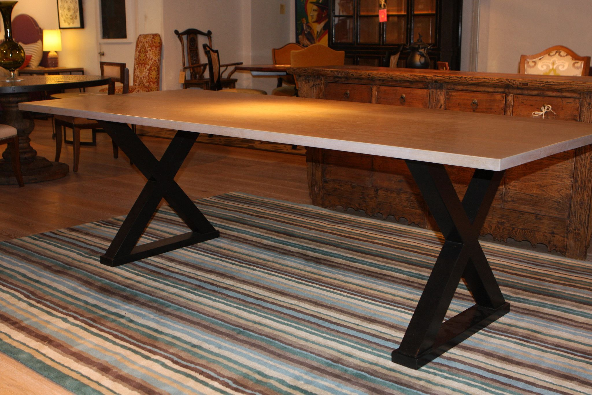 Classic Old World Refectory Trestle Table