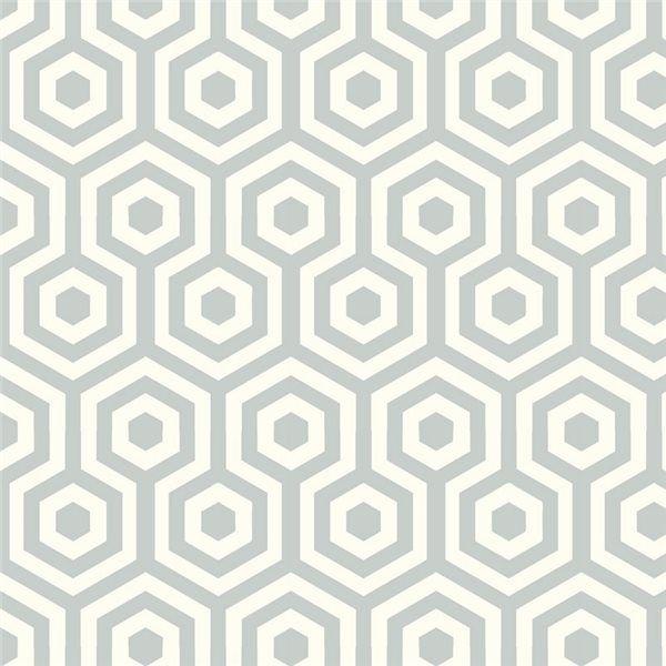 papier peint hexagono gris et blanc de tres tintas s lection chambre pinterest le fil fil. Black Bedroom Furniture Sets. Home Design Ideas