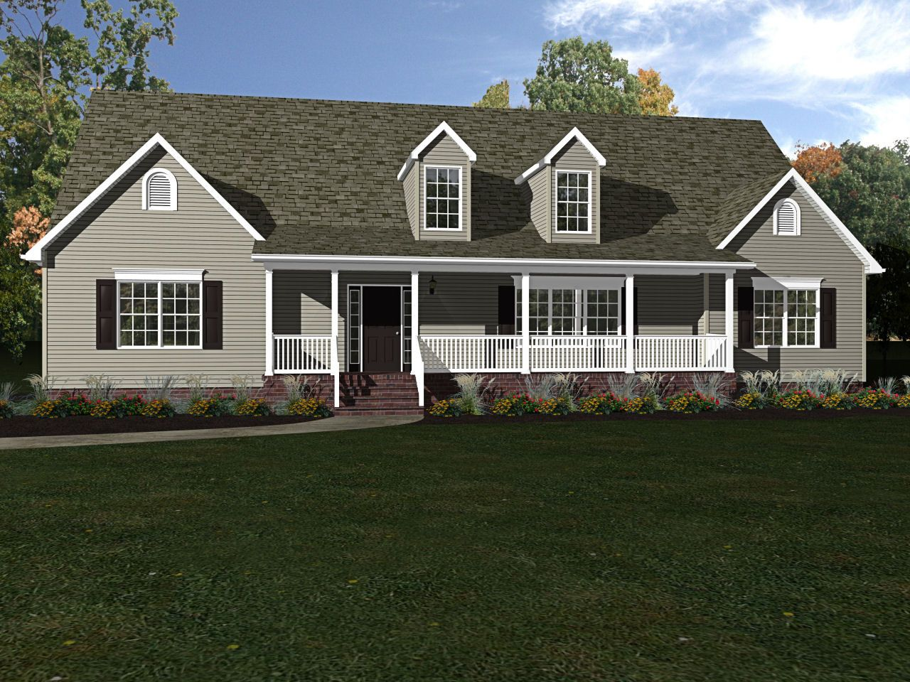 The is a model home at Beracah's Sales